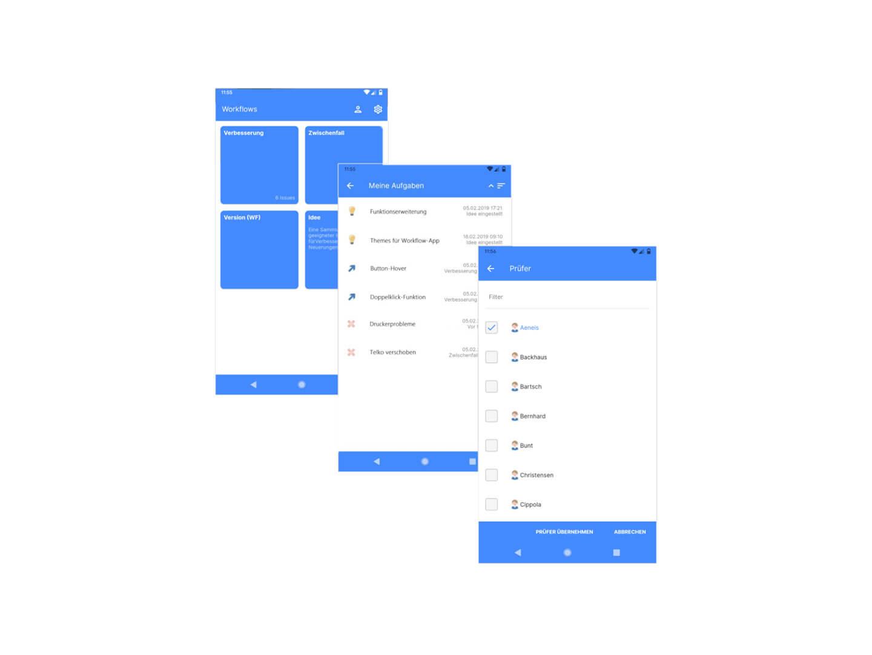 App von Aeneis, BPM-Tool der intellior, Partner der W+W Consulting GmbH aus Ettlingen