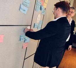 Philosophie Team Brainstorming Strategie Umsetzung der Unternehmensberatung W+W Consulting GmbH in Ettlingen