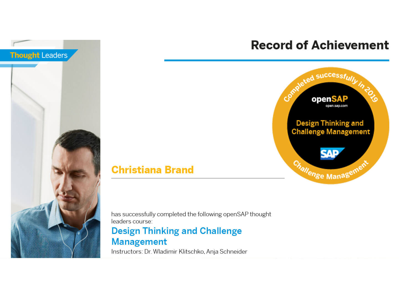 Weiterbildung der Mitarbeiter der W+W Consulting GmbH Unternehmensberatung aus Ettlingen Erfolg Digitalisierung SAP Design Thinking S/4HANA Zukunft